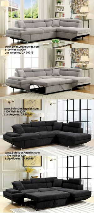 Modern sofa sectional couch with pullout sofa bed/No Credit Needed No Credit Check Apply Today for Sale in Downey, CA