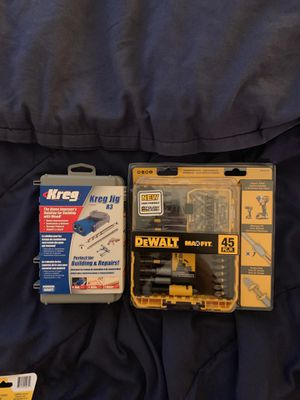 45pc DeWalt Drill Set with Keegan Jig for Sale in Annapolis, MD