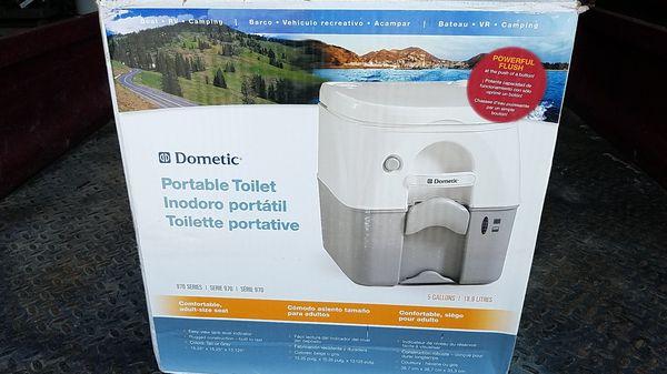 A Domestic RV or Boat Portable Toilet