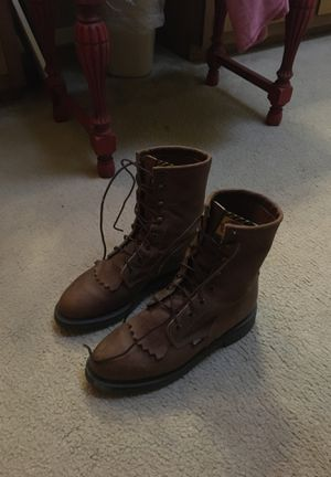 Justin steel toe lace up work boots for Sale in Victoria, TX