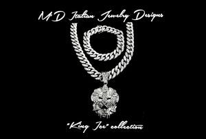 """100% iced out Micropave style 24"""" 15mm wide classic Miami style Cuban chain,bracelet & king ice pendant. for Sale for sale  Las Vegas, NV"""