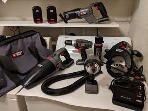 18 V PORTER CABLE POWER TOOLS AND BAG INCLUDED for Sale in Fort Worth, TX