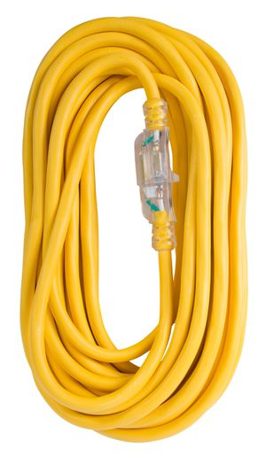 Extension Cord 100ft SJTW Yellow 12/3 Lighted End (OC100123LT) for Sale in Concord, NC