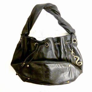 Nan Drawstring Hobo Bag — Genuine Black Leather for Sale in Pataskala, OH