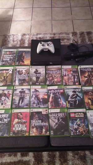Xbox 360 connect and 20 games for Sale in Riverside, CA