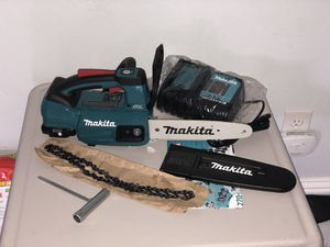 Brand new Makita chain saw with battery and charger for Sale in Stockton, CA