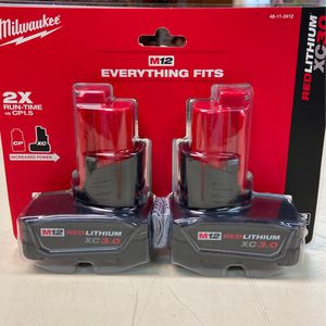 Brand New . Milwaukee M12 XC3.0 Batteries for Sale in Chesapeake, VA