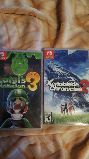 Luigi's Mansion 3 and Xenoblade Chronicles 2 for Sale in Tacoma, WA