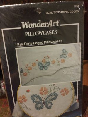 1 pair Wonder Art Stamped Pillowcases for Sale in Montgomery, AL
