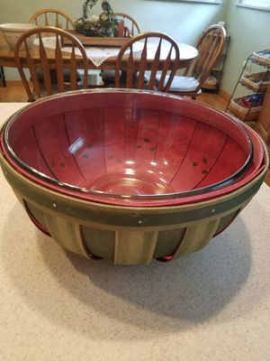 Longaberger watermelon basket with bowl for Sale in Beaver, PA