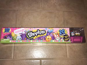 Shopkins Mega Pack Season #2 20 Shopkins + 6 Shopping Bags and a Basket for Sale in Arlington, VA