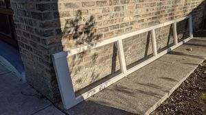 Garage door panel with glass panes for Sale in Wilmette, IL