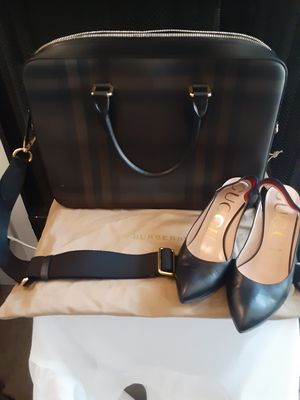 GREAT BUNDLE DEAL NEW BURBERRY,UNISEX BAG WITH AUTHENTIC TAG,&GUCCI SHOES FOR WOMEN GREAT AFFORDABLE DEAL for Sale in Los Angeles, CA