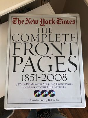 New York Times - Complete Book if Front Pages 1851-2008 for Sale in Bellefontaine, OH