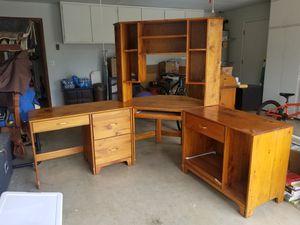 Oak Corner desk for Sale in Visalia, CA