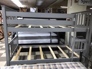 Brand new gray twin over twin bunk bed twin mattress $75 each one for Sale in Deerfield Beach, FL