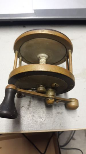 Vintage German Silver Fishing Reel for Sale in Croton Falls, NY