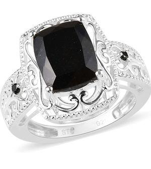 925 Sterling Silver, Black Tourmaline Statement Ring for Women for Sale in Wichita, KS