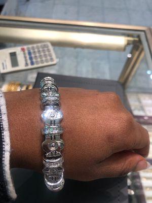 Silver(.925) w/cz stones men's bracelet for Sale in Philadelphia, PA