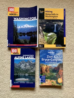 Hiking books guides and manuals for Washington and Utah (Lot of 4) for Sale in Renton, WA