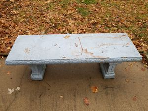 Decorative concrete bench for Sale in Saint Joseph, MO