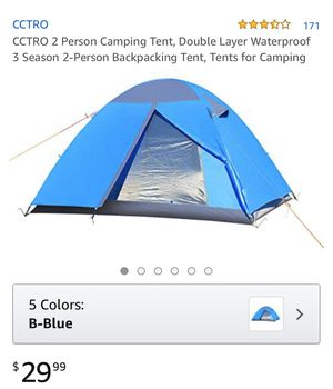 Cctro 2 person camping tents, double layer waterproof 3 season 2 person backpacking tents , tents for camping and hiking - brand new for Sale in Corona, CA