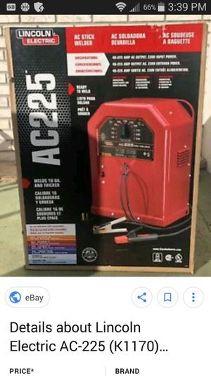 AC 225 Lincoln Electric welder for Sale in WARRENSVL HTS, OH