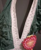 Medium blue green halter style dress for Sale in Battle Creek, MI