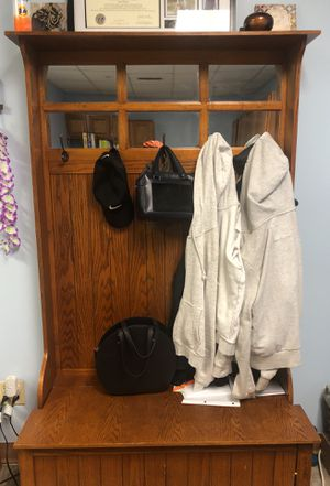 Coat rack + storage + lamp stand for Sale in Washington, DC