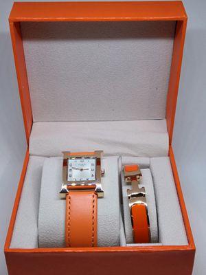 HERMÉS LUX SET Heure H Watch + Clic H Bracelet for Sale in Houston, TX