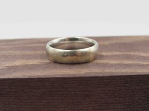 Size 6 Sterling Silver Simple Rustic Band Ring Vintage Statement Engagement Wedding Promise Anniversary Bridal Cocktail Friendship for Sale in Everett, WA