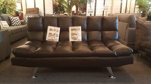 "Brand new 78"" dark brown faux leather sofa futon clearance! for Sale in San Diego, CA"