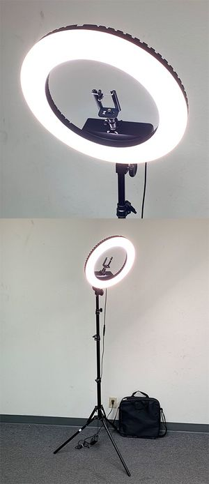 """New $75 each LED 13"""" Ring Light Photo Stand Lighting 50W 5500K Dimmable Studio Video Camera for Sale in El Monte, CA"""