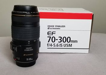 Canon EF 70-300mm f/4-5.6 IS USM Telephoto Zoom SLR Lens - New for Sale in Cape Coral,  FL