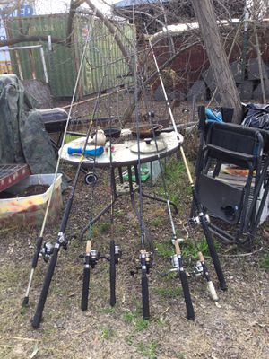 Fishing poles for sell will sale all together are let me no what u are interested in for Sale in Stockton, CA