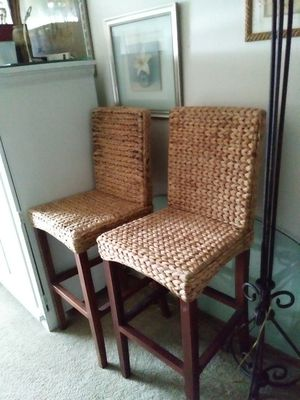 Seagrass bar stools set of 2 for Sale in Portland, OR