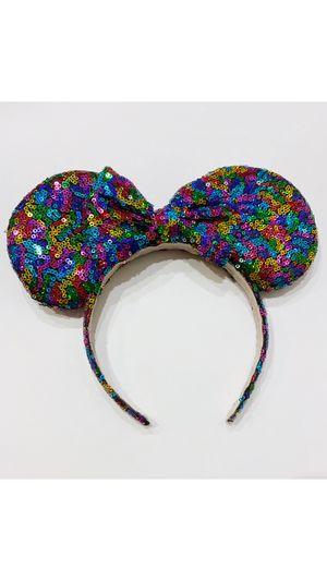 New Minnie Mouse ears headband (rainbow) for Sale in Fontana, CA