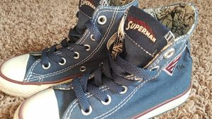 Brand new Superman Marvel Comics Chuck Taylor Converse All Star boys toddler size 10.5 for Sale in Las Vegas, NV