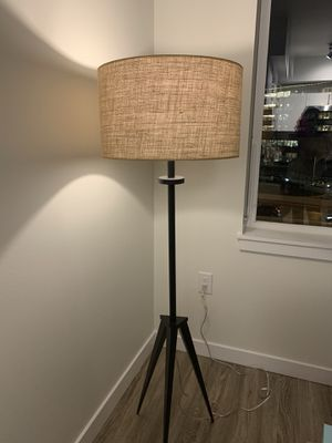 Mid Century Style Floor Lamp, Oil Rubbed Bronze Finish for Sale in Seattle, WA