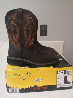 Brand new survivors steel toe work boots size 7.5 for Sale in Riverside, CA