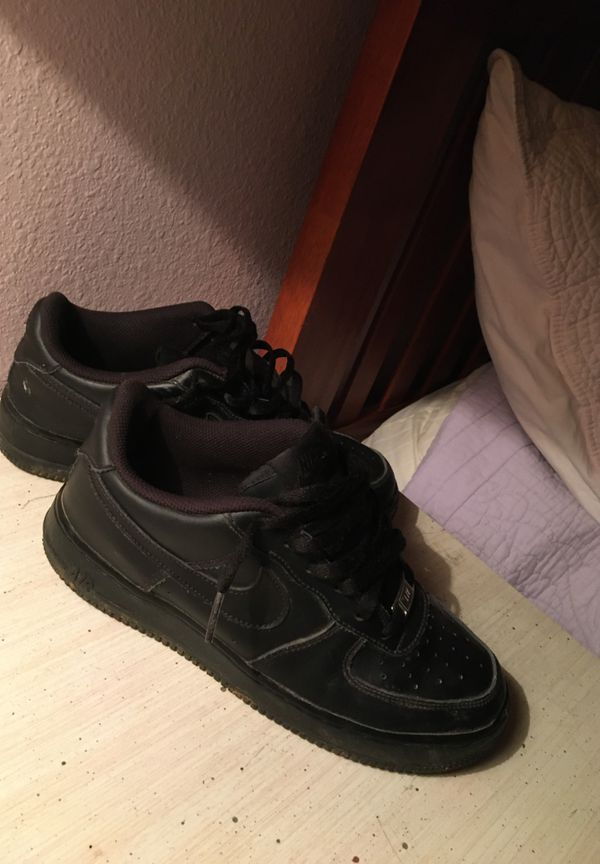 Black Nike Air Force 1's