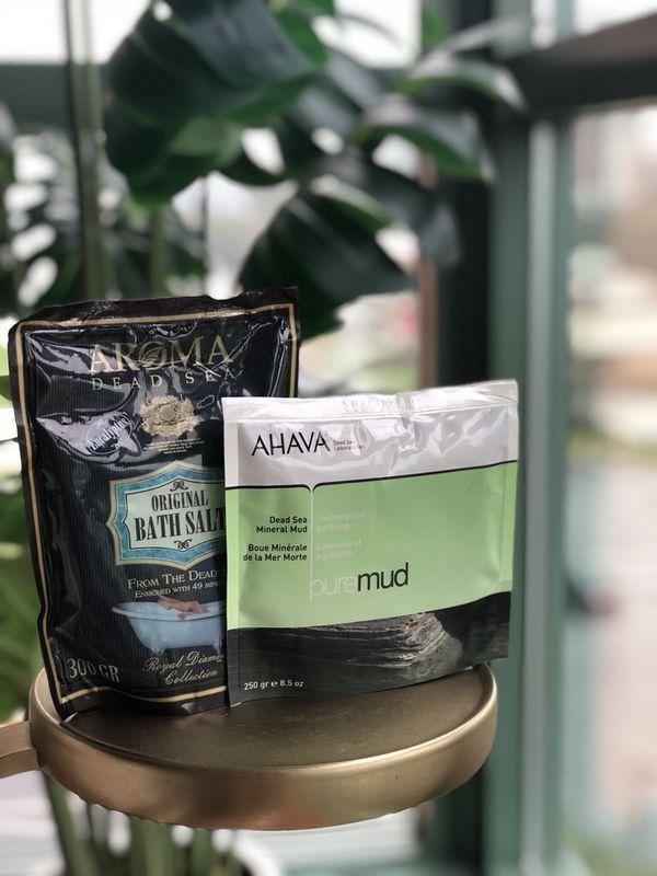 Bath & Body Care: Aroma Dead Sea Salt Bath & AHAVA Dea Sea Mineral Mud Aromatherapy Set