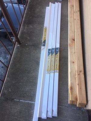 4 brand new packs of door molding pre fab $50 for all 4 packs for Sale in Euless, TX
