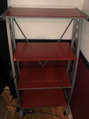 Red, metal shelves for Sale in Davie, FL