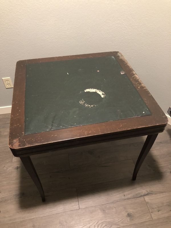 Two vintage card tables from the 1960's