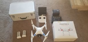 DJI Phantom 2 drone with 2 batteries monitor and case for Sale in Peoria, AZ