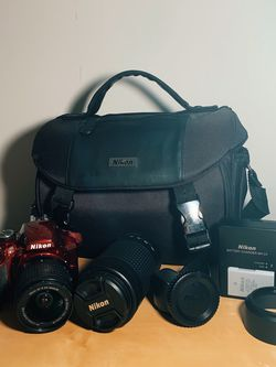 Nikon D3400 DSLR Camera With with 18-55mm and 70-300mm Lenses for Sale in Cherry Hill,  NJ