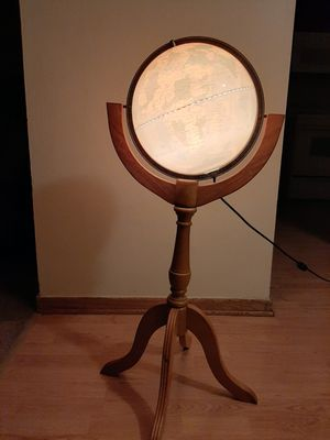 World Globe Floor Lamp for Sale in Hanover Park, IL