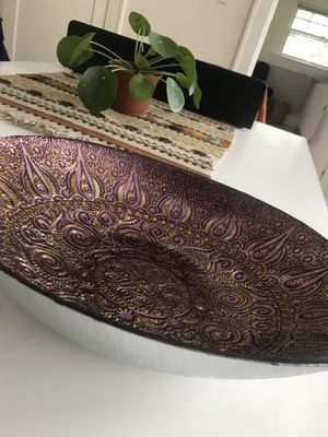 Decorative Glass Bowl for Sale in Portland, OR