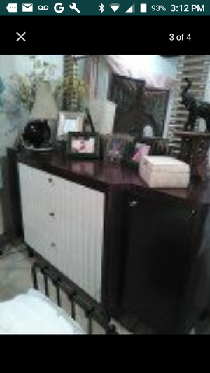 Two tone Hotel style dresser dark wood and white for Sale in US